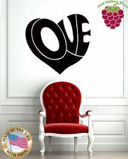Wall Stickers Vinyl Decal Love Label Heart For Bedrooms z1050