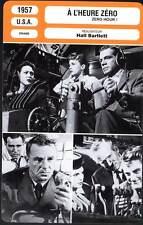 A L'HEURE ZERO - Hayden,Darnell,Andrews (Fiche Cinéma) 1957 - Zero Hour !
