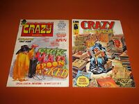 Crazy Comic Magazines #1 & #1 *VF/NM/Unread* Stan Lee 1973, Curtis