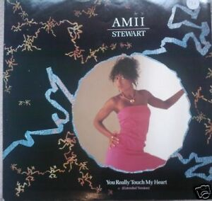 """AMII STEWART ~ You Really Touch My Heart 12"""" Single PS"""