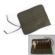 Roll Up Canvas Paint Brush Bag For Artist Draw Pen Brush School Arts Supplies FT