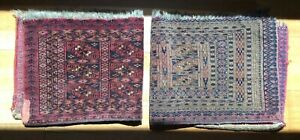 Two(2) Antique Handmade Carpet Mats