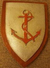 Vintage WW2  Cast Metal Painted Plaque Shield  BEACH GROUP Insignia plaque