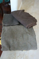 Lot Of 3 Vintage 1960's Green Brown Gray Military Wool Blanket