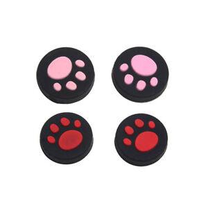 4pcs Cat Paw Thumb Grips Cover Joystick Rocker Cap for PSV 1000 2000 PS Vita US