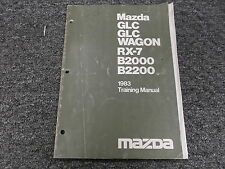 1983 Mazda GLC Wagon RX-7 B2000 B2200 Owner Operator Manual Instructor Book