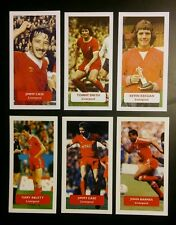 Group of 6 LIVERPOOL Score UK football trade cards KEEGAN CASE BARNES SMITH