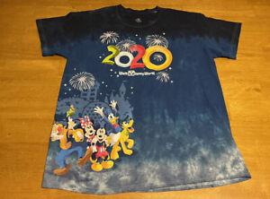 2020 Walt Disney World Magic Kingdom Tie Dye T Shirt Sz L Mens Mickey Goofy