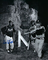 1957 BRAVES Felix Mantilla signed photo 8x10 AUTO Autographed w/ Hank Aaron Milw