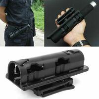 360 degrees Baton Holder Plastic Swivelling Baton Case Telescopic Holster Black