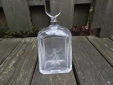 VINTAGE NUMBERED ORREFORS GLASS DECANTER WITH FIGURE INTERNATIONAL SALE