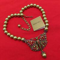Heidi Daus Necklace Monarch Madness Swarovski Crystal Pendant Butterfly Bead 90a