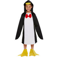 KIDS CHILDS PENGUIN COSTUME ZOO ANIMAL CHRISTMAS FANCY DRESS BOYS GIRLS 4-12 YRS