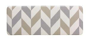 Kitchen Mat   PVC  Non Slip Anti Fatigue Laundry Mat   Herringbone Gainsboro