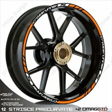 Trims Stickers Sport Wheel Wheel Honda VFR 800 x Crossrunner White Orange