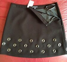 Warehouse Mini Skirt In Black Size 8 Fully Lined BNWT Sold Out £45