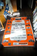 EXHIBITION HARLEY DAVIDSON 1996 4x6 ft Original Vintage Advertising Poster