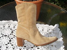 PRINCIPLES SUEDE(LEATHER) COWBOY STYLE ANKLE BOOTS SIZE 6