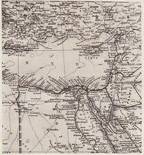D3570 Stralcio dell'Africa - Mappa geografica d'epoca - 1940 vintage map