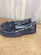 Women's SPERRY TOP-SIDER Black Tassel 9104548 Boat Shoes Size 9