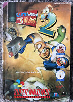 Earthworm Jim 2 Super Nintendo SNES Instruction Manual Booklet ONLY