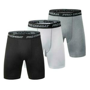Mens Compression Shorts Base Layer Briefs Pant Thermal Yoga Fitness Running D4F2