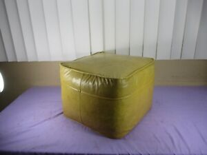 Vintage Mid-Century Leather/Vinyl Ottoman Foot Rest HIGH QUALITY, NICE STITCHING