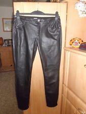 Esprit Damen Jeans / Hose in schwarz Gr. 40 Lederoptik