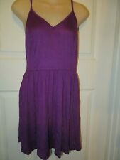 Venus Purple Baby Doll Tank Dress Adjustable Straps Size Small NEW IN PACKAGE