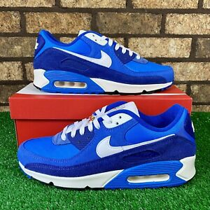 🔷Nike Air Max 90 SE (DB0636-400) 'First Use Blue' Dark Blue Suede Sneakers🔷