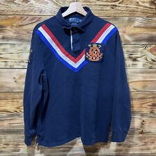 Polo Ralph Lauren Snow Polo Challenge Cup Long Sleeve Rugby Polo Men's Size XL