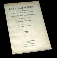 la fille du Far-West livret seul Civinini opéra Puccini