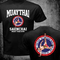 Lumpinee PK Saenchai Muay Thai Boxing Gym Thailand Cartwheel Kick Logo T-shirt