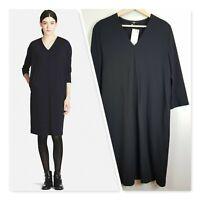 [ UNIQLO ] Womens Black V/Neck Dress   Size L or AU 14 / US 10