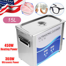 15l Commercial Ultrasonic Cleaner Cleaning Equipment Digital Heated Timer Heater