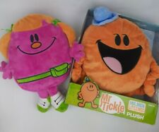 Little Miss Helpful and Mr Tickle Plush Stuffed Mr Men Show Think Wow Large 10""