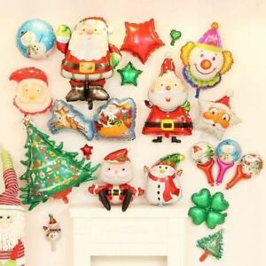 Merry Christmas Aluminum Foil Balloons Party Decor Xmas Celebration Decorations