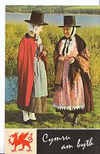 Costume Postcard -Two Ladies in Welsh Costume    U942