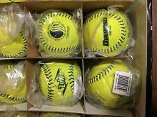 """(6) Diamond® Zulu® Classic Slow Pitch 11"""" Blue Stitch Usssa Softballs, Yellow"""