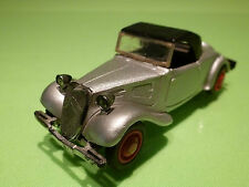 ELIGOR 1:43 CITROEN TRACTION AV CABRIOLET - GREY - RARE SELTEN - GOOD CONDITION