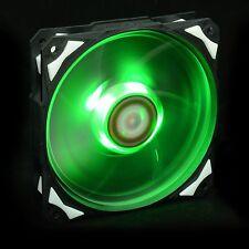 Green LED 120X120X25mm PWM Fan With De-vibration Rubber 60CFM Low noise