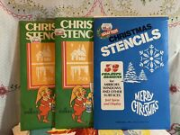 Three Opened But Unused Packs Christmas Stencils