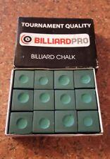 Cuel Billiards Chalk 12 Piece Green Snooker Chalk