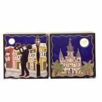 St Louis Cathedral New Orleans Jazz Ceramic Tiles Trivets 6x6 Jennifer Roche