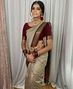 Banarasi lichi silk saree Designer indian Ethnic formal wedding pakistani sari