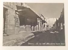 Vintage post card Postcard - Pompei Pompeii - Abundance Street, Italy 1950's