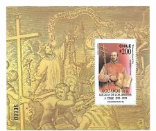 CHILE YEAR 1993, ARRIVAL OF THE JESUITS, 1 VALUE + SOUVENIR SHEET Scott 1040a