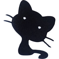Black Cat Patch Iron Sew On T Shirt Jeans Skirt Dress Jacket Embroidered Badge