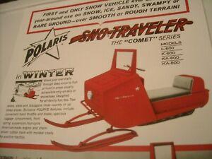 1964 Vintage POLARIS COMET Snowmobile Dealer Brochure