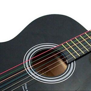 1 Set 6Pcs Guitar Strings Perfect Rainbow Colorful Steel Acoustic Guitar Durable